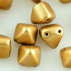Pyramid Stud Two Hole Czech Beads