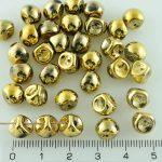 Mushroom Czech Beads - Crystal Gold - 9mm