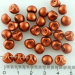 Mushroom Czech Beads - Matte Bronze - 9mm