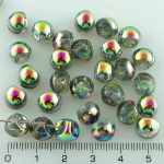 Mushroom Czech Beads - Crystal Vitrail - 9mm