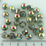 Mushroom Czech Beads - Crystal Vitrail - 9mm