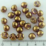 Mushroom Czech Beads - Crystal Gold - 9mm
