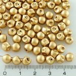 Mushroom Czech Beads - Gold - 6mm