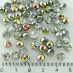 Mushroom Czech Beads - Crystal Vitrail - 6mm