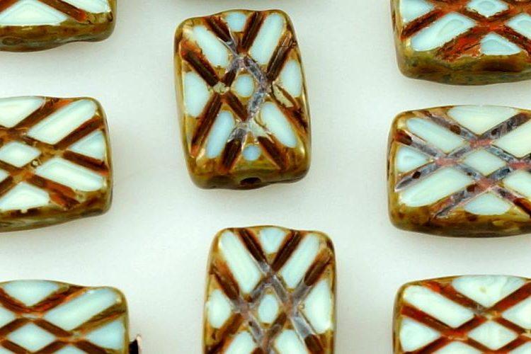 Rectangle Table Cut Window Czech Beads