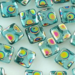 Square Paillettes Squarelet One Hole Chips Czech Beads