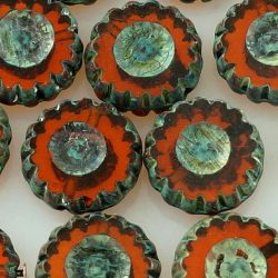 Coin Wheel Window Table Cut Flat Czech Beads