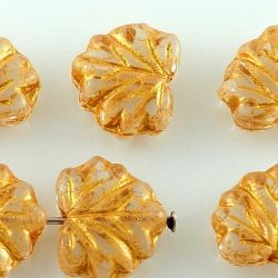 Maple Carved Czech Beads