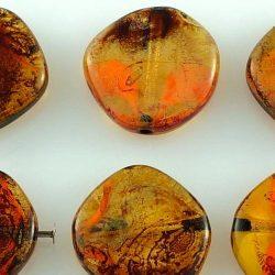Round Coin Flat Czech Beads