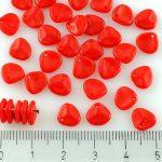 Flower Petal Czech Beads - Red - 8mm