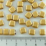 Two Hole Czech Beads - Gold - 6mm