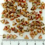 Half Pinch Large Czech Beads - Crystal Yellow Rainbow Half - 7mm