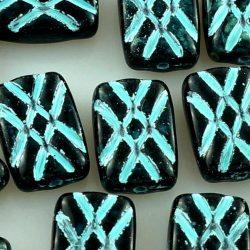 Rectangle Brick Czech Beads