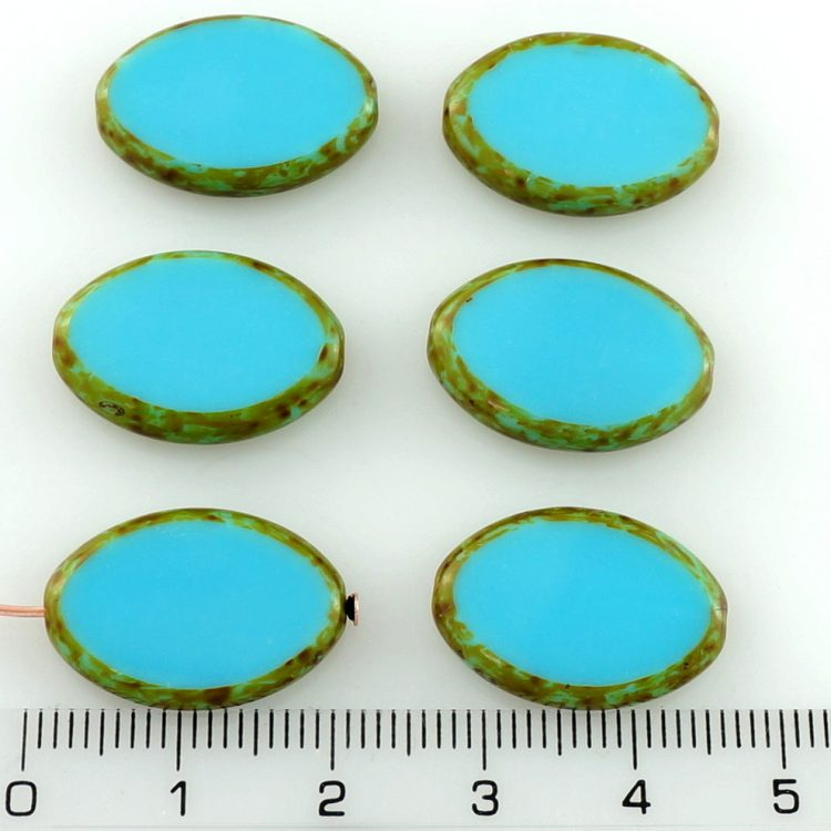 Oval Window Table Cut Flat Large Czech Beads - Picasso Beads