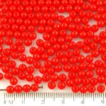 Round Czech Beads - Red - 4mm