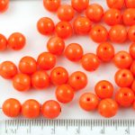 Round Czech Beads - Dark Orange - 8mm