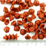 Bell Flower Caps Czech Beads - Opaque Chocolate Brown - 7mm