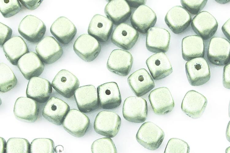 Imitation Small Cube Square Rounded Edge Czech Beads