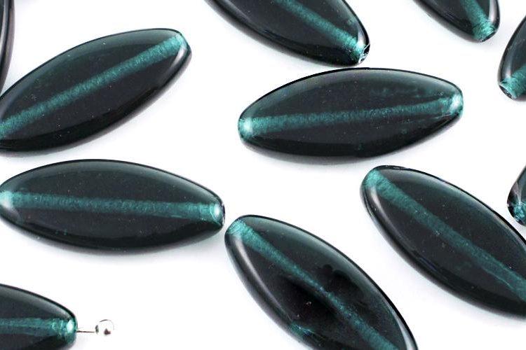 Flat Oval Petal Czech Beads