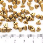 Half Pinch Large Czech Beads - Matte Bronze Pale Gold - 7mm