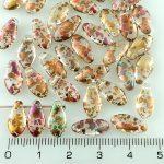 Dagger Leaf Czech Beads - Crystal Patina Mix Gold - 12mm