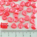 Flower Petal Czech Beads - Pearl Shine Rose Pink - 8mm