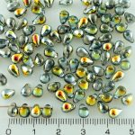 Teardrop Czech Beads - Metallic Marea Gold Crystal - 6mm