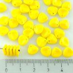 Flower Petal Czech Beads - Opaque Yellow - 8mm