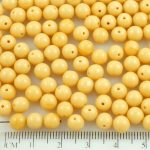 Round Czech Beads - Opaque Beige Brown - 6mm