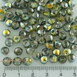 Mushroom Czech Beads - Metallic Marea Gold Crystal - 6mm