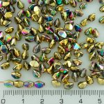 Pinch Czech Beads - California Gold Green - 5mm