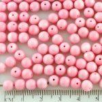 Round Czech Beads - Opaque Pink - 6mm