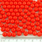 Round Czech Beads - Opaque Red - 6mm