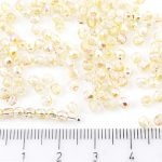 Round Faceted Fire Polished Czech Beads - Crystal Yellow Rainbow - 3mm