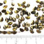 Pinch Czech Beads - Crystal Metallic California Gold Nights - 5mm