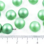 Round Czech Beads - Forest Green Pearl Imitation - 11mm